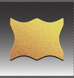 premium quality golden label over white background vector image