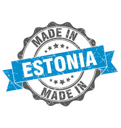 Made in estonia round seal vector