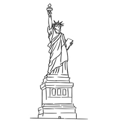 American statue of liberty vector