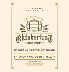 Oktoberfest beer festival celebration typography vector