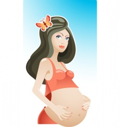 Beautiful pregnancy vector