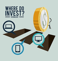 Investment design vector