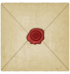 Vintage envelope with wax seal vector