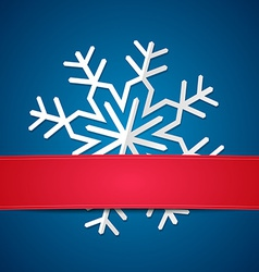 Paper snowflake on colored background vector
