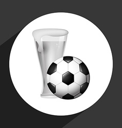 Beer and soccer vector