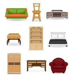 Set icons furniture 02 vector