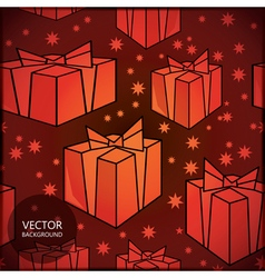 New year gift background vector image