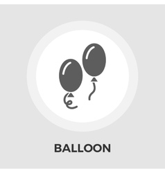 Balloon flat icon vector
