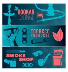 Smoking Banner Set vector image