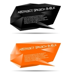 abstract speech bubble vector image