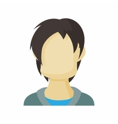 Avatar men teenager icon cartoon style vector image vector image