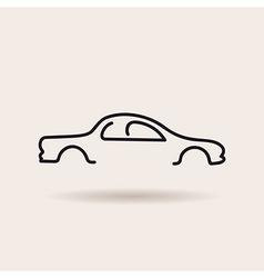 car logo contour line silhouette icon vector image