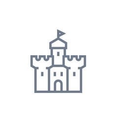 castle fortress icon on white vector image