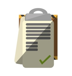 Clipboard check list delivery report shadow vector