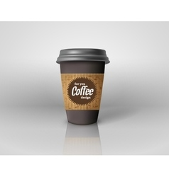 Coffee cup template with the sweet vector image
