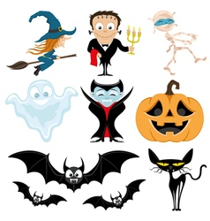 Cute halloween set vector