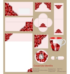 Design of corporate identity Abstrakt red vector image