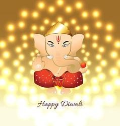 Diwali ganesh vector