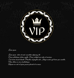 elegant black invitation card with a texture and vector image