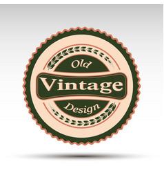 emblemvintage design vector image vector image