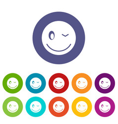 Eyewink emoticon set icons vector
