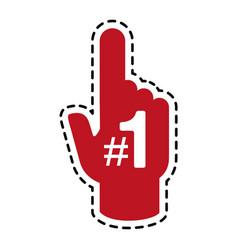 Fan foam finger icon image vector