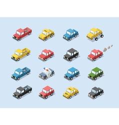 isometric set of city passenger transport vector image