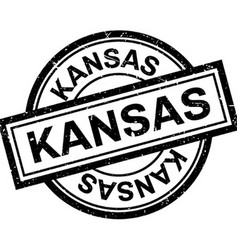 Kansas rubber stamp vector