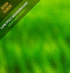 Low poly abstract background green polygonal vector