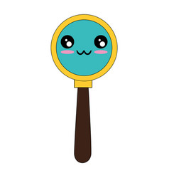 Magnifying glass symbol kawaii cartoon vector