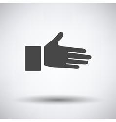 Open hend icon vector image vector image