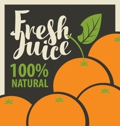 oranges and fresh juices vector image