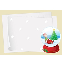 paper sheets and a girl vector image vector image