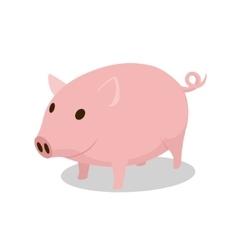 Pig cartoon minimalistic vector image