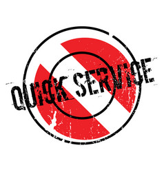 Quick service rubber stamp vector