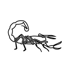 scorpion black color icon vector image vector image