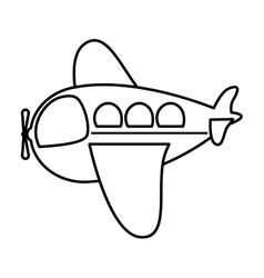 silhouette side airplane toy flat icon vector image