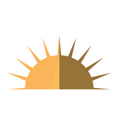 Sun day weather shadow vector