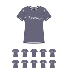 T-Shirt design with the personal name Emma vector image