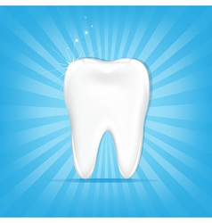 Tooth With Sunburst vector image vector image