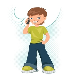 Cell phone teen vector