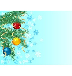 Festive winter background vector