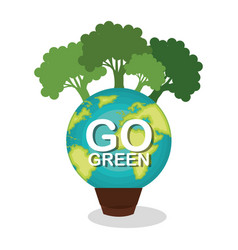 go green planet earth vector image