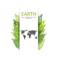 Green leaves earth background vector