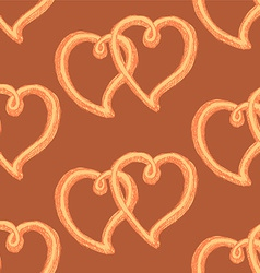 Sketch heart in vintage style vector