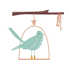 Cute blue bird vector image