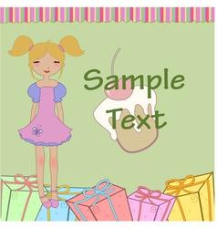 funny little girl vector image