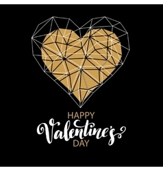 Valentines day love greeting card with geometric vector