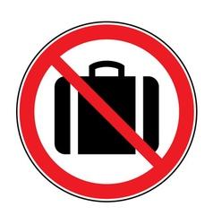 No suitcase sign vector