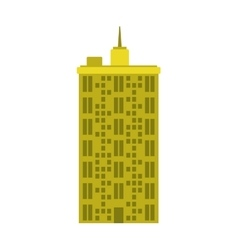 Building tower icon urban and city design vector